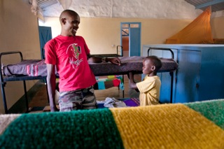 Social worker and ex street child at the Naivasha Childrens' Shelter, Naivasha, Kenya