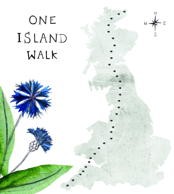 Map of Britain with dotted line from Land's End to John O'Groats