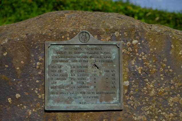 Rock with plaque to RAF Crewmen
