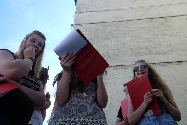 Market researches, girls with clipboards