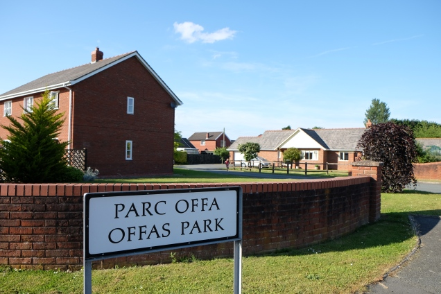 Offa's Park sign and houses