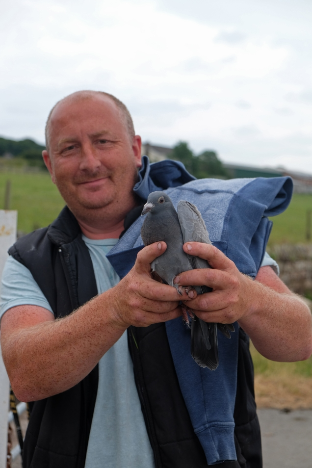 DSCF9484 Paul and young homing pidgeon © James Forshall