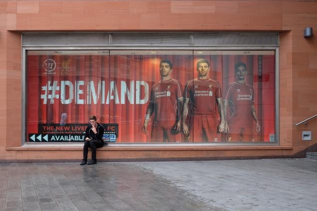 Liverpool FC shop window