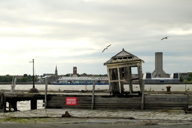 derelict ticket office, Liverpool, docks, mersey