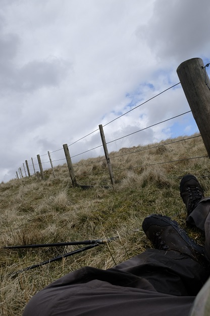 Moorland walking, crossing fences