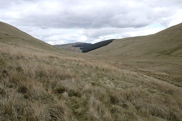 View of a typical Scottish borders valley near Ettrick